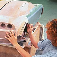 Met de hand bijwerken van een auto-studiemodel van SikaBlock M600